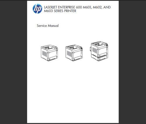 Product picture HP LASERJET M600 601 602